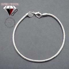 Bracelet maille serpent souple argent 925 - fermoir mousqueton (olivier_victoria) Tags: argent 925 bracelet charms maille serpent charm charme souple