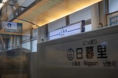 A Keisei Skyliner train stopped at Nippori station (cj.sakae) Tags: japan tokyo nippori keisei skyliner 日暮里