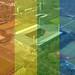 Luftbild vom Rheinenergiestadion: Heimatstadion des Fußballvereins 1. FC Köln, hinter Regenbogenfarben und Text