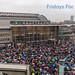 Fridays For Future Demonstranten protestieren auch bei Regenwetter vor dem Hauptbahnhof in Köln