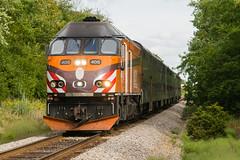 19-6465cr (George Hamlin) Tags: illinois railroad passenger train suburban commuter metra milwaukee road hiawatha emblem retro paint mp36 diesel locomotive photodecor george hamlin photography