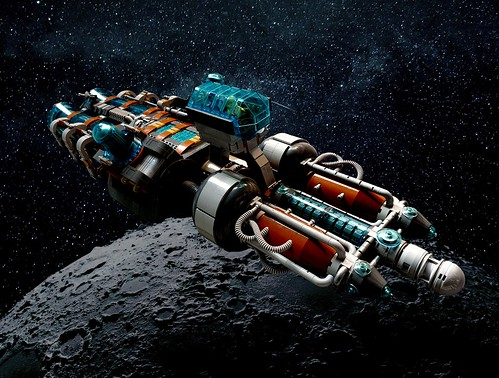 Lego SHIPtember day 31: The Maiden Voyage of the SpaceSHIP Disqualifier