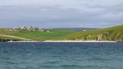 Spiggie beach - view to Rorse beach