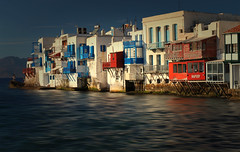 Mykonean Rhapsody (HWHawerkamp) Tags: greece mykonos oldtown front waterfront houses architecture facades old colours water mediterran sea romantic
