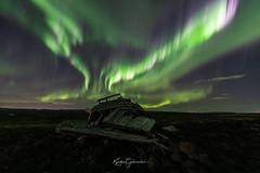 Old Shipwreck (Kjartan Guðmundur) Tags: iceland ísland auroraborealis northernlights nightscape nocturne nightphotography shipwreck rocks lava canoneos5dmarkiv sigma14mmf18art kjartanguðmundur arctic