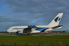 The 100th A380 (Gerry Rudman) Tags: airbus a380841 9mmnf manchester malaysia airlines thomas cook repatriation