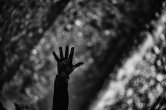 Réfléchir. (LACPIXEL) Tags: main hand mano reflet reflejo reflection réflexion flaque charco puddle bokeh noiretblanc blancoynegro blackandwhite sony flickr lacpixel