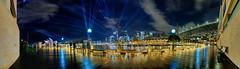 On Board (John_de_Souza) Tags: johndesouza onboard vividsydney2019 laserlightfestival sydney 2019 panorama nightpanorama city cityscape laser campbellscove boardwalk