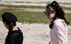 ParkWalk (Hodd1350) Tags: rome italy backs women females shades sunglasses beret walking sony sonyrx10iv candid streetshot