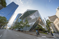 Seattle Central Library (vtom61) Tags: seattlecentrallibrary seattle sonya7riii voigtlander heliar10mmf56 heliarhyperwide architecture urban pacificnorthwest building