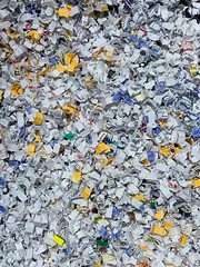 Shredded (remiklitsch) Tags: abstract paper white yellow blue iphone remiklitsch