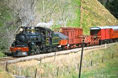 057 Steam train (Awesome Image Maker NZ) Tags: ab428 canonslidebestof flickr flickr2 slides wekapass steamexcursion steamfestival steamtrain