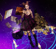 #319 Season of the witch (NuriaNiven) Tags: laq veechi pink fuel andore maitreya juna suicidal unborn moon hair breathe psycho barbie pixicat swallow dreamcatcher kirin focus poses bento mesh witch halloween second life sl lotd lookbook blogger cute kawaii
