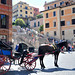 The Spanish Steps, Rome - and transport for the visitors
