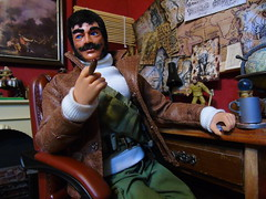 Teegan in the study (Blondeactionman) Tags: bamhq jakes study diorama figure action man photography playscale one six scale teegan wilberforce