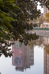 Urban nature (Dumby) Tags: landscape bucurești românia urban river dâmbovița city reflections citycenter nature autumn fall colors september canoneos40d