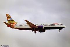 BRITISH AIRWAYS B737 G-DOCH (Adrian.Kissane) Tags: 737 boeing airline airliner jet plane aircraft aeroplane aviation gatwick arriving london sky outdoors 25428 2000 b737 gdoch lgw britishaw