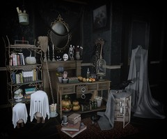 💀 Witching Hour (sushiforbreakfastResident) Tags: sl secondlife second lif life witch salem deco decor home decorating fapple dust bunny dustbunny