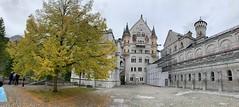Neuschwanstein Castle Courtyard (kepibear) Tags: castle europe schwangau panorama 2019 neuschwanstein germany courtyard iphonexsbackcamera425mmf18