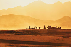 1051 Wadi Rum Sunset (Hrvoje Simich - gaZZda) Tags: outdoors landscape desert stone mountains sand wadirum jordan asia travel nikon nikond750 nikkor283003556 gazzda hrvojesimich sunset people animals camels silhouette