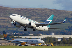 ALAN_POTTS_20190928_MG_5130 (Alan Potts) Tags: glasgowairport gla egpf renfrew aviation scotland aircraft alanpotts cfwsk boeing7377ct b737 westjet passengerjet passengerplane civilaircraft airbusa330243 thomascookairlinesuk gtcxc stored impounded glasgow renfrewshire uk