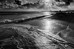 Equinoctial spring tide (stevenbailey7) Tags: silhouette lighthouse sea seascape fall september clouds cloudscape welsh waterscape sky sunset wales goldenhour light outside nature nikon nikkor dusk afternoon sundown colour colourful background skyscape shadows orange black art water beautiful visit southwestwales wow top nice evening winter naturephotography new seaside beach llanelli walescoast landscape blackwhite blackandwhite mono sunrays vacation holiday white waves autumn bw flickr walesonline