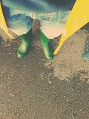 First rainy days this autumn (northseaboy) Tags: wellies gummistiefel wellingtonboots rain rainjacket rainwear gummistövlar rubberboots century tretorn