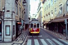 Lisbon Trolley (Piedmont Fossil) Tags: lisbon portugal trolley street car red coke cocacola