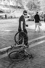 Pêche au gros ou pêche au vélo. Paris, septembre 2019 (Bernard Pichon) Tags: paris france bpi760 fr75 pêche vélo seine