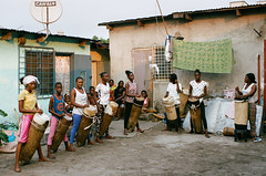 Portra 400 Brazzaville 7 (Packing-Light) Tags: 35mm africa congo nikonf6 analog film people brazzaville drums drummers culture kodak portra400 c41 music
