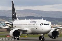 D-AINN Airbus A320NEO Lufthansa Glasgow airport EGPF 29.09-19 (rjonsen) Tags: plane airplane aircraft aviation airliner airside taxying