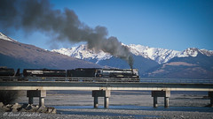 030 Steam train (Awesome Image Maker NZ) Tags: canonslidebestof flickr ka942 slides waimakariri bridge river steamexcursion steamtrain
