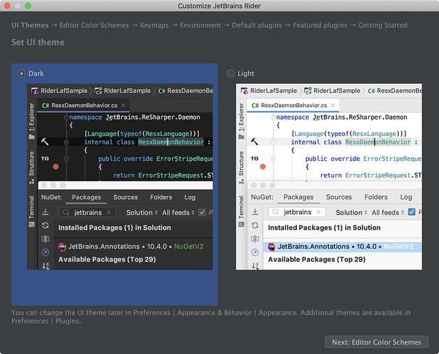 JetBrains Rider UI Theme
