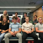 BC Team Training Group en route to Chile (l to r back row) Frances MacDonald, Gerritt van Soest, Heiko Ihns, Marcus Athans; (l to r front row) Ella Renzoni, Tait Jordan, Nathan Romanin, Asher Jordan