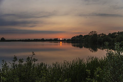 Lake Sunset (CraDorPhoto) Tags: canon6d sunset landscape sun waterscape nature outdoors outside lake water reflections clouds sky uk cambridgeshire