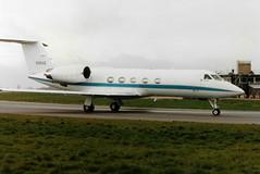 N96AE G-1159C Gulfstream IV cn 1024 National Express Co Inc Luton 20Mar90 (kerrydavidtaylor) Tags: ltn eggw bedfordshire londonlutonairport gulfstream4