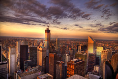 New York (mokastet) Tags: mokastet newyork newyorkcity 30rock sunset newyourkskyline skyline america manhattan