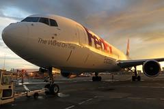 N156FE FedEx Express 767-3S2F(ER) at KCLE (GeorgeM757) Tags: n156fe fedexexpress fedex 7673s2fer kcle clevelandhopkins georgem757 boeing 767 aircraft aviation airplane airport sunrise