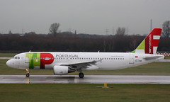 TAP Air Portugal CS-TNK Airbus A320-214 departure from Dusseldorf DUS Germany bound for Lisbon LIS Portugal (Cupertino 707) Tags: tap air portugal cstnk airbus a320214 departure from dusseldorf dus germany bound for lisbon lis