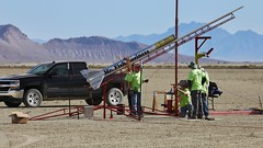 Prepping the R24000 Rocket at BALLS 28 (jurvetson) Tags: balls balls28 rocket launch event black rock desert nv mr fish business