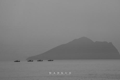 龜山島-正好連線的漁船