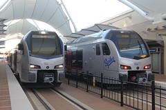 IMG_8411 (GojiMet86) Tags: trinity metro texrail dfw dallas fort worth texas railroad train 2017 2018 stadler flirt3 dmu 101 108 spike international airport