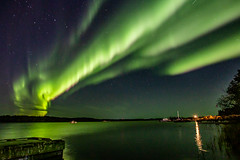 Sep 29, 2019 Aurora-6956 (nwtarcticrose) Tags: auroraborealis northernlights yellowknife northwestterritories nightsky nightphotography landscape water
