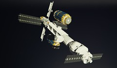 CELTS - Continuous Earth Lunar Transport System (ORION_brick) Tags: lego ship shiptember celts continuous earth lunar transport system