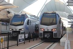 IMG_8414 (GojiMet86) Tags: trinity metro texrail dfw dallas fort worth texas railroad train 2017 2018 stadler flirt3 dmu 101 108 spike international airport