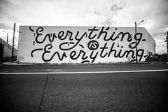 Eveything is Everything (Thomas Hawk) Tags: america everythingiseverything oregon pdx portland usa unitedstates unitedstatesofamerica westcoast zachyarrington bw mural fav10 fav25 fav50