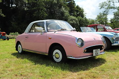 Nissan Figaro J671HGK (Andrew 2.8i) Tags: auto show classic cars car automobile carmarthenshire day arms transport railway voiture classics gwili bronwydd japanese nissan retro figaro coupe hgk j671