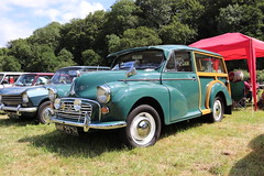 Morris Minor 1000 Traveller MNK257H (Andrew 2.8i) Tags: show automobile auto voiture cars car classics classic carmarthenshire arms bronwydd day transport railway gwili british bl britishleyland estate stationwagon traveller 1000 minor morris mnk257h