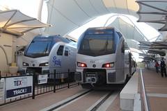 IMG_8413 (GojiMet86) Tags: trinity metro texrail dfw dallas fort worth texas railroad train 2017 2018 stadler flirt3 dmu 101 108 spike international airport