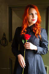 IMG_0454 (VladimirTro) Tags: россия санктпетербург портрет девушка женщина модель роза цветок russia russian saintpetersburg model girl woman portrait posing flower rose canonrp ef5014 beautiful sexy nice female face redhead